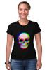 """Футболка Стрэйч (Женская) """"Череп 3D"""" - skull, череп, абстракция, 3d"""