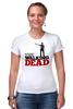 "Футболка Стрэйч (Женская) ""The Walking Dead"" - зомби, ходячие мертвецы, the walking dead, рик граймс, rick grimes"