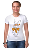 """Футболка Стрэйч (Женская) """"Кролик"""" - арт, кролик, rabbit"""