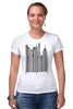 """Футболка Стрэйч (Женская) """"Сити-код"""" - арт, город, дизайн, city, код, barcode, урбанизм"""