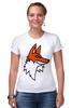 """Футболка Стрэйч (Женская) """"Лис"""" - авторские майки, fox"""