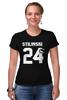 "Футболка Стрэйч (Женская) ""Stilinski 24"" - волчонок, teen wolf, stilinski, стайлз"