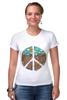 "Футболка Стрэйч (Женская) ""Pacific"" - арт, peace, пацифизм"