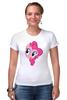 "Футболка Стрэйч (Женская) ""My Little Pony - Пинки Пай (Pinkie Pie)"" - pony, mlp, my little pony, пони, pinkie pie, пинки пай"