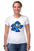 """Футболка Стрэйч (Женская) """"Mega Man (8-bit)"""" - 8-бит, 8-bit, mega man"""