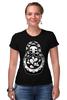 """Футболка Стрэйч (Женская) """"Матрешка Скелет"""" - skull, череп, матрешка, dead, russian doll"""