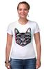 """Футболка Стрэйч (Женская) """"Кот 3D"""" - кот, cat, 3d"""