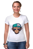 "Футболка Стрэйч ""MNK Design. Original Design "" - обезьяна, monkey, smoking, сигарета"