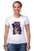 """Футболка Стрэйч (Женская) """"Манэки-Нэко (Кот Счастья)"""" - cat, кот счастья, манэки-нэко"""