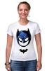 "Футболка Стрэйч (Женская) ""Маска Бэтмена"" - batman, бэтмен"