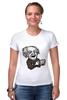 """Футболка Стрэйч (Женская) """"Эйнштейн"""" - арт, albert einstein, физика, эйнштейн, scientist"""