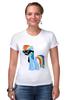 "Футболка Стрэйч (Женская) ""My Little Pony - Rainbow Dash (Радуга)"" - радуга, pony, rainbow dash, mlp, пони"