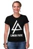 "Футболка Стрэйч (Женская) ""Linkin Park"" - linkin park, линкин парк"