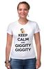 """Футболка Стрэйч (Женская) """"Keep Calm and Giggity"""" - keep calm, family guy, гриффины, giggity, гленн куагмаер"""