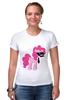 "Футболка Стрэйч (Женская) ""My Little Pony - Пинки Пай (Pinkie Pie)"" - pony, mlp, пони, пинки пай"