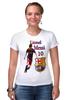 """Футболка Стрэйч (Женская) """"Cesare-FC Batcelona 80"""" - barcelona, messi, lionel messi"""