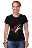 """Футболка Стрэйч (Женская) """"Arizona Coyotes"""" - хоккей, nhl, arizona coyotes, койот, аризона койотис"""