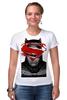 """Футболка Стрэйч (Женская) """"бэтмен"""" - batman, superman, бэтмен, супермэн, бэтмэн, n"""