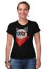 """Футболка Стрэйч (Женская) """"Угрюмый кот"""" - кот, мемы, grumpy cat, угрюмый кот"""