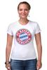 """Футболка Стрэйч (Женская) """"Бавария Мюнхен"""" - футбол, football, футбольный клуб, бавария мюнхен, bayern munich"""
