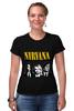 Футболка Стрэйч "Nirvana " - гранж, nirvana, kurt cobain, курт кобейн, нирвана