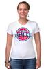 """Футболка Стрэйч (Женская) """"Detroit Pistons"""" - баскетбол, nba, detroit, нба, detroit pistons, детройт пистонс"""
