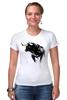 """Футболка Стрэйч (Женская) """"Черный Бык"""" - животные, black, бык, bull"""