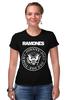 """Футболка Стрэйч (Женская) """"Ramones"""" - панк, ramones, рамонес, joey ramone"""