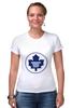 "Футболка Стрэйч (Женская) ""Торонто Мэйпл Лифс "" - хоккей, nhl, нхл, toronto maple leafs, торонто мэйпл лифс"