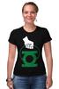 "Футболка Стрэйч (Женская) ""Green Lantern "" - арт, green, dc, lantern, green lantern, dc comics, зелёный фонарь"