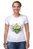 """Футболка Стрэйч (Женская) """"Зеленый чай"""" - весна, spring, зеленый чай, green tea, весенний"""