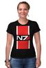"Футболка Стрэйч ""N7 (Mass Effect)"" - mass effect, n7, масс эффект"