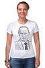 "Футболка Стрэйч ""Владимир Путин"" - путин, putin, владимир путин"