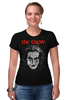 "Футболка Стрэйч (Женская) ""The Crow"" - crow, ворон, brandon lee, брэндон ли, the crow"