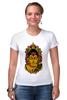 "Футболка Стрэйч (Женская) ""Сиддхаартха Гаутама"" - медитация, лотос, будда"