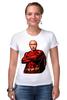 """Футболка Стрэйч (Женская) """"Путин Суперчеловек"""" - путин, putin, суперчеловек"""