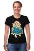 """Футболка Стрэйч (Женская) """"Дед Мороз (Santa)"""" - новый год, new year, дед мороз, нг, santa, merry christmas, 2015, в чем встречать новый год, с рождеством"""