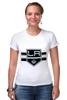 """Футболка Стрэйч (Женская) """"Лос-Анджелес Кингс """" - хоккей, nhl, нхл, los angeles kings, лос-анджелес кингс"""
