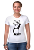 "Футболка Стрэйч (Женская) ""Панда вандал"" - животные, панда, panda, wwf, вандал"