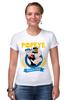 """Футболка Стрэйч (Женская) """"Спортзал Попайя"""" - popeye, gym, попай, моряк попай, фитнес клуб"""