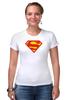 "Футболка Стрэйч (Женская) ""Супермен"" - comics, супермен, superman"