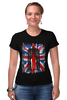 "Футболка Стрэйч (Женская) ""10th флаг UK (Доктор Кто)"" - doctor who, bbc, флаг, uk, доктор кто"