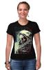 """Футболка Стрэйч (Женская) """"мертвый космос"""" - skull, череп, space, космос, astronaut, death, смерть, dead, космонавт"""