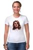 """Футболка Стрэйч (Женская) """"Lana del Rey"""" - арт, девушка, лана дель рей"""