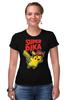 "Футболка Стрэйч (Женская) ""SUPERPIKA"" - игры, аниме, пикачу, super mario, супер марио, pikachu"