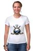 """Футболка Стрэйч (Женская) """"Buffalo Sabres"""" - спорт, хоккей, nhl, нхл, баффало сейбрз"""