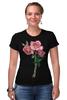 """Футболка Стрэйч """"розы"""" - цветы, акварель, розы"""