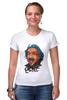 "Футболка Стрэйч (Женская) ""Эйнштейн"" - science, наука"