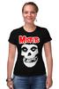 """Футболка Стрэйч (Женская) """"Misfits """" - skull, череп, punk rock, misfits, панк"""