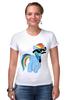 """Футболка Стрэйч (Женская) """"20 % cooler"""" - pony, rainbow dash, mlp, пони, ponies"""